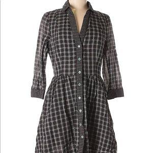 Moulinette Soeurs Plaid Dress Sz 4 Shirt Dress